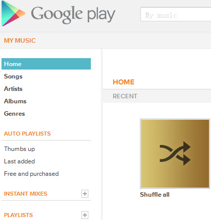 import iTunes music into google play