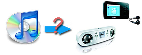 Transfer iTunes to Philips MP3 Player